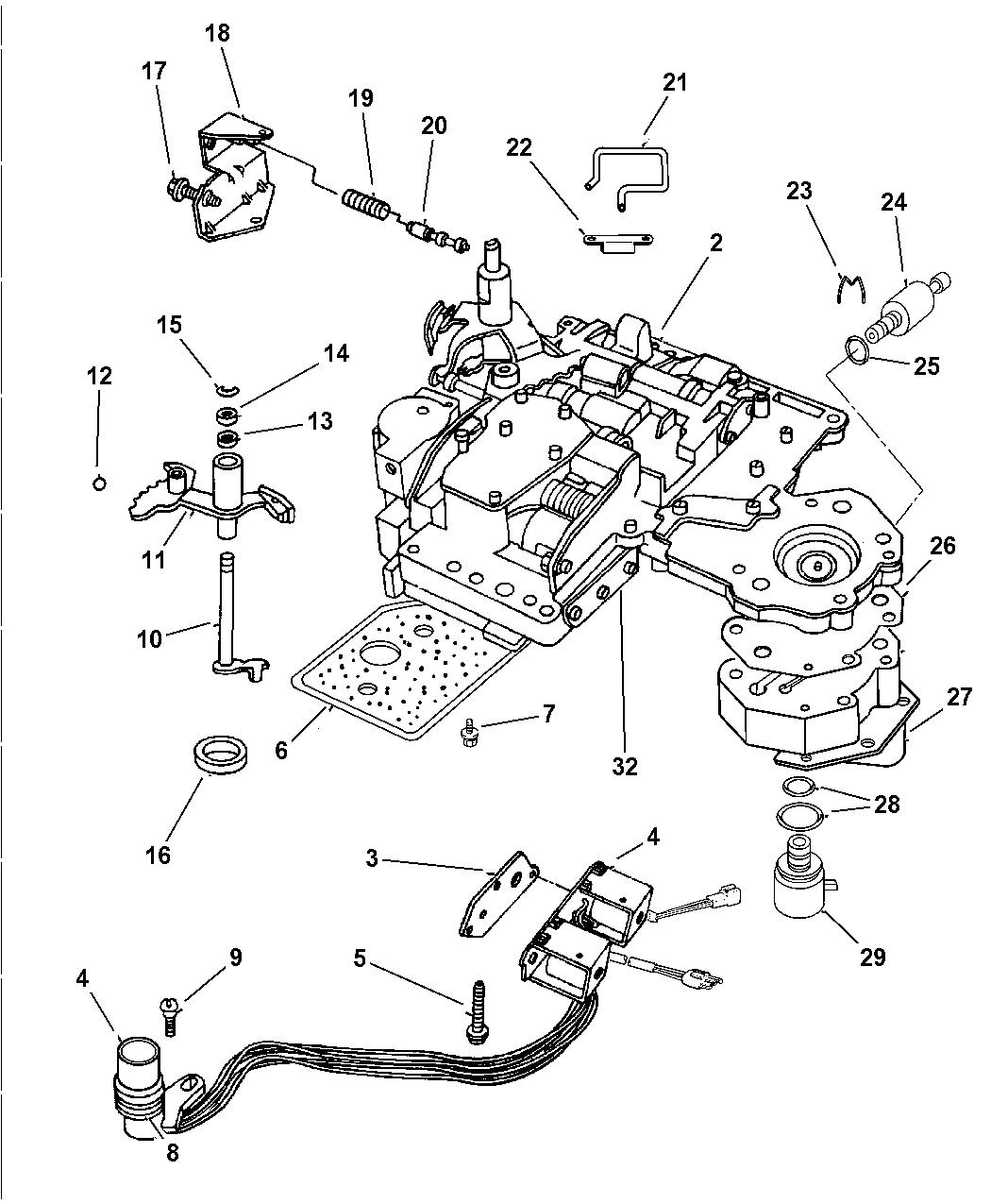 2001 dodge ram 1500 regular cab valve body - thumbnail 1