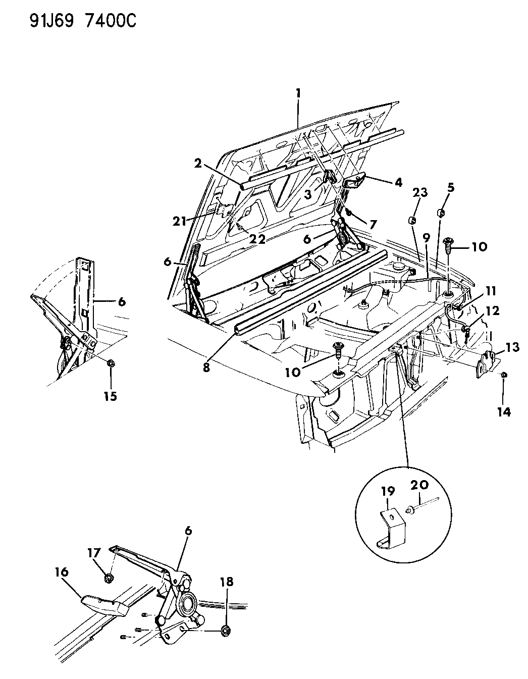 Jeep Cherokee Hood Diagram 55030432 Genuine Mopar Seal To Plenum 1993 Grand Latch And Hinges