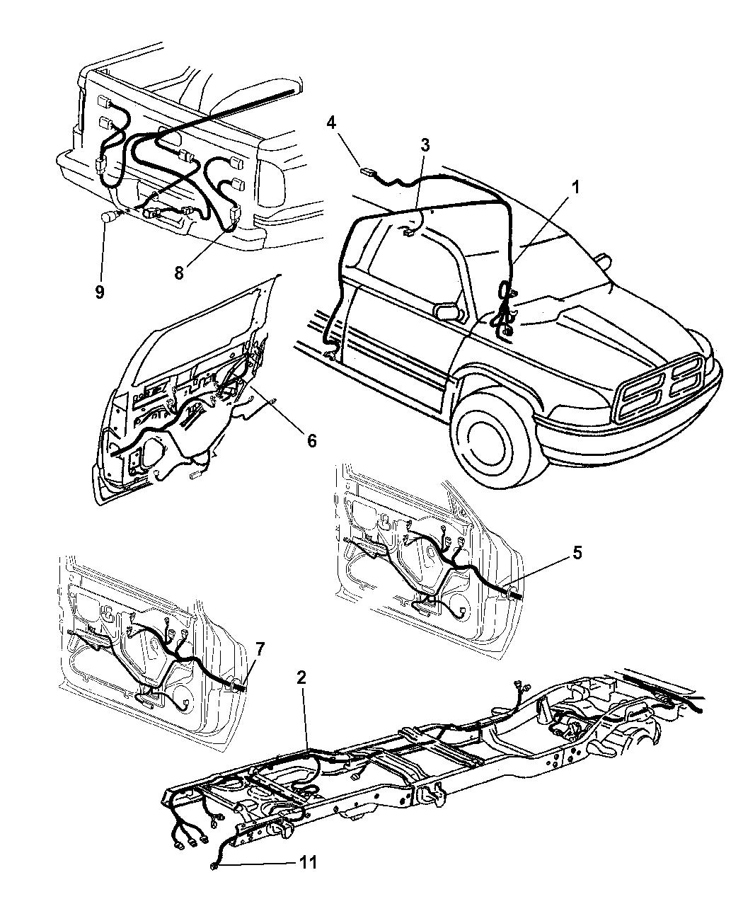 56020189 - Genuine Mopar WIRING-TEMPERATURE SENSOR JUMPER