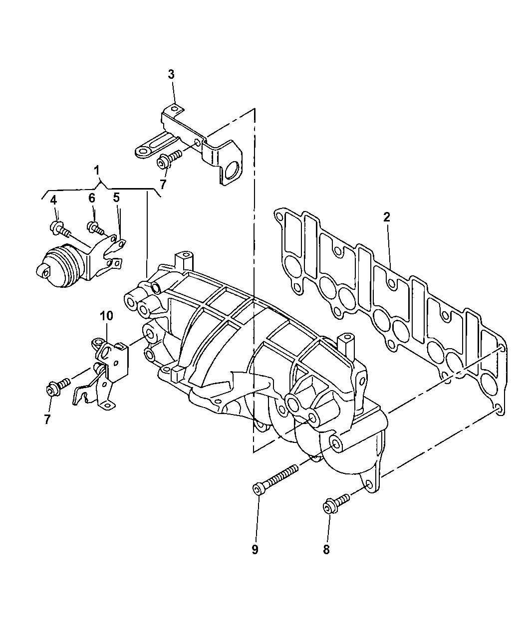 2009 Jeep Patriot Intake Manifold - Thumbnail 2