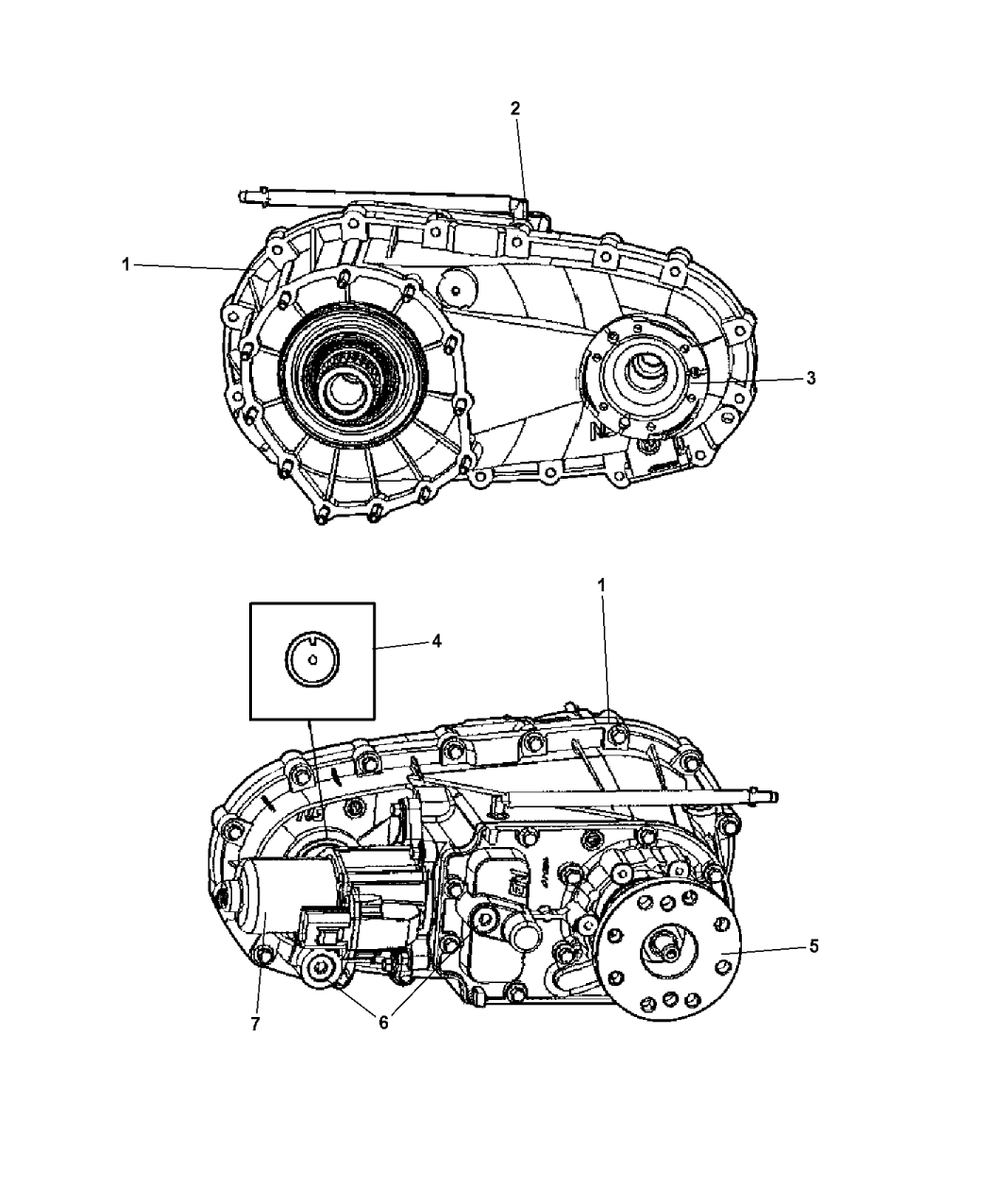 2008 Jeep Commander Transfer Case embly & Identification Jeep Commander Transfer Case Wiring Diagram on