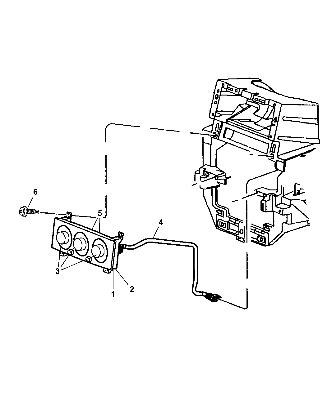 5013124aa - genuine jeep bulb-heater and a/c control 2001 jeep heater control diagram 2010 jeep heater wiring diagram #6