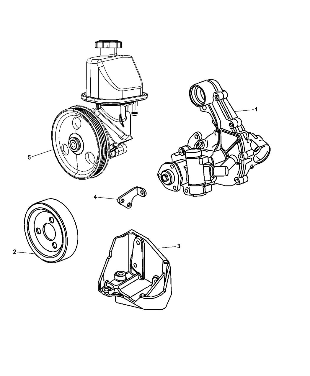 2008 Chrysler PT Cruiser Power Steering Pump - Mopar Parts ...