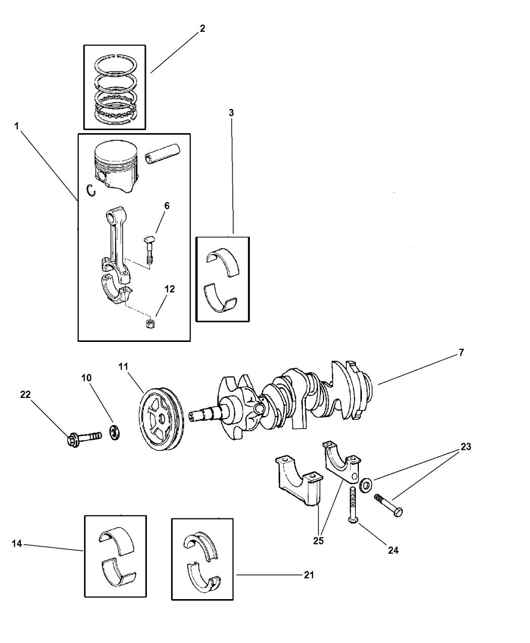 2002 Chrysler Prowler Crankshaft Piston Mopar Parts Giant Plymouth Wiring Diagrams