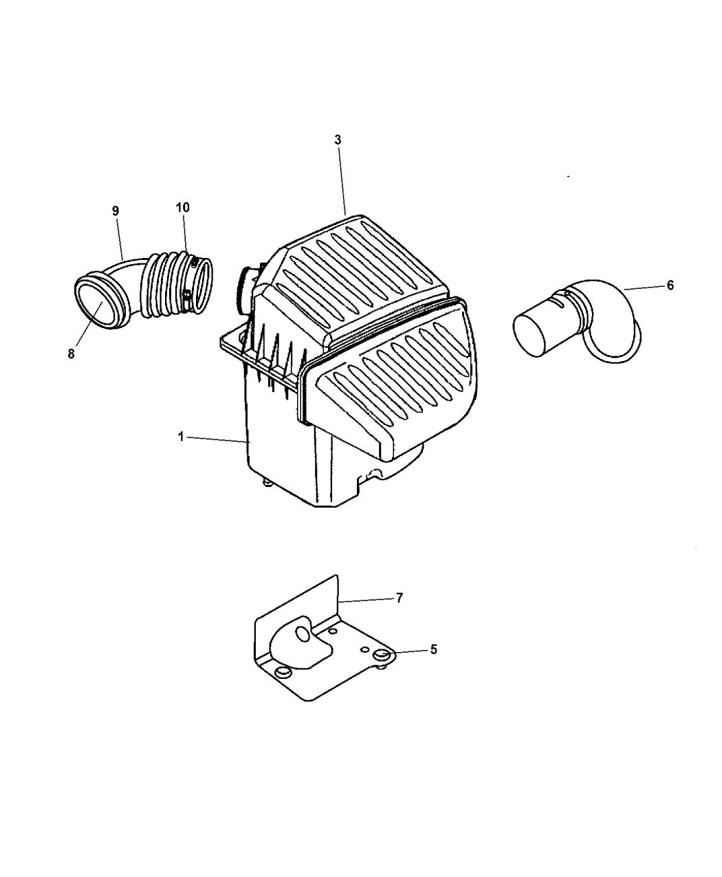 5066076aa Genuine Mopar Filter Crankcase Vent