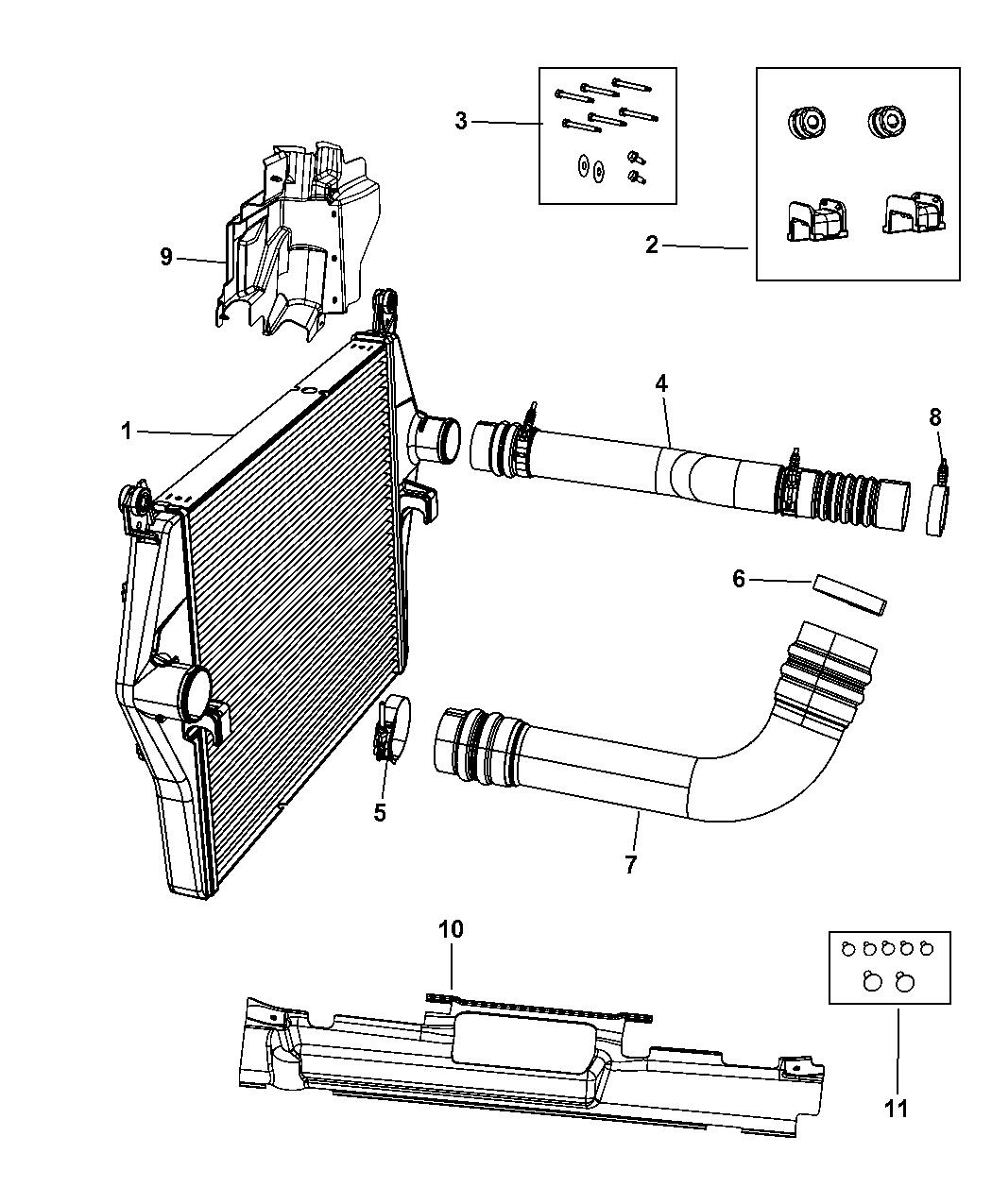 Genuine Chrysler 55111281AB Charge Air Cooler Seal