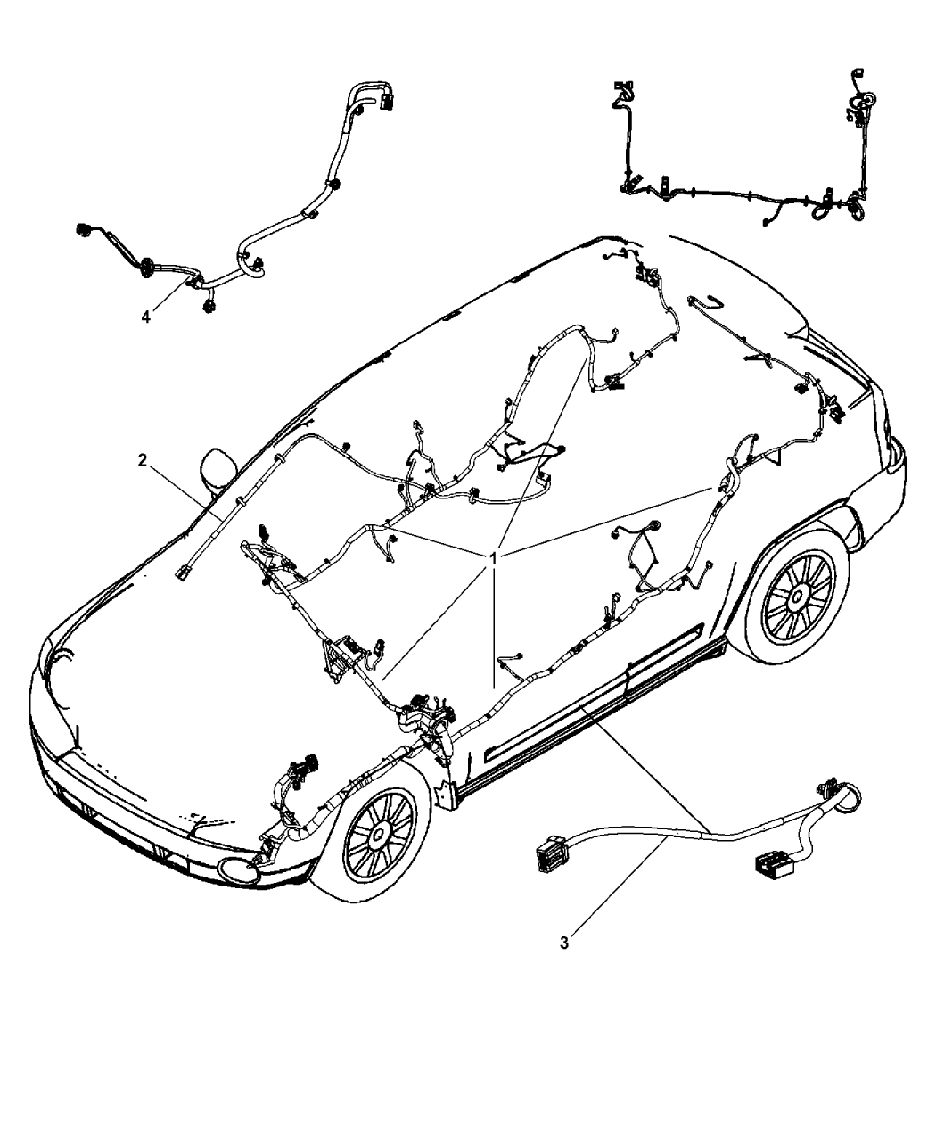 68079107aa Genuine Jeep Wiring Unified Body