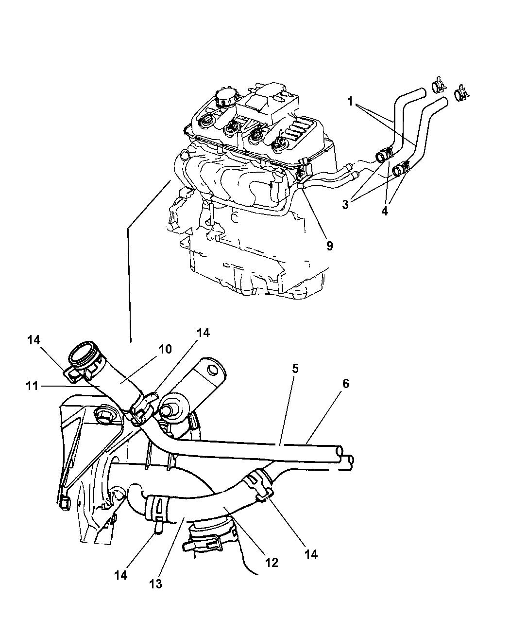 4777036 - Genuine Dodge TUBE-HEATER CORE