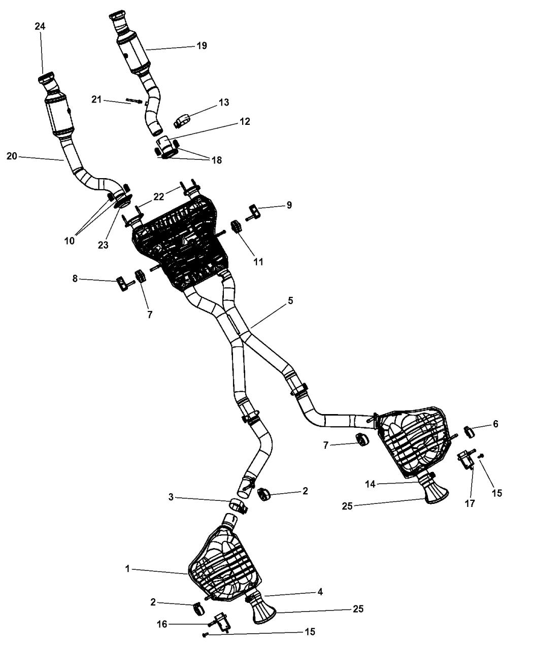 5181770ab genuine jeep exhaust tailpipe rh moparpartsgiant com jeep tj exhaust diagram jeep tj exhaust diagram