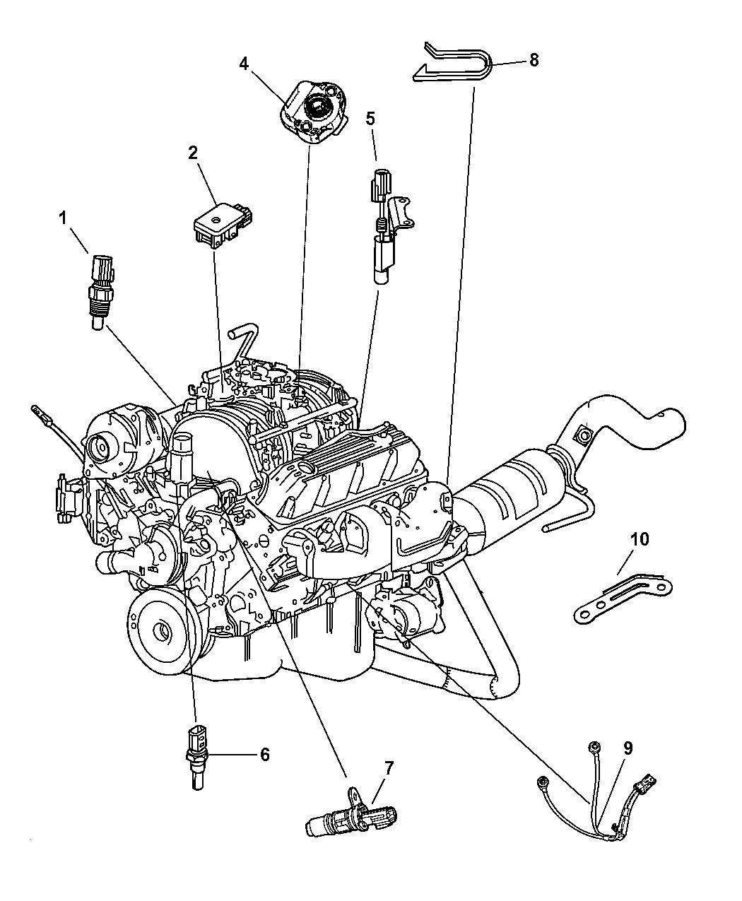 2007 Chrysler Aspen Sensors - Engine - Thumbnail 1