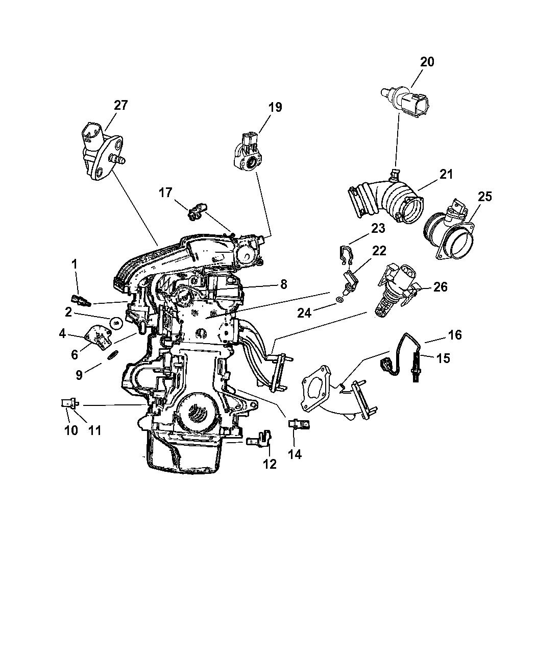 Genuine Chrysler SWITCH-OIL PRESSURE