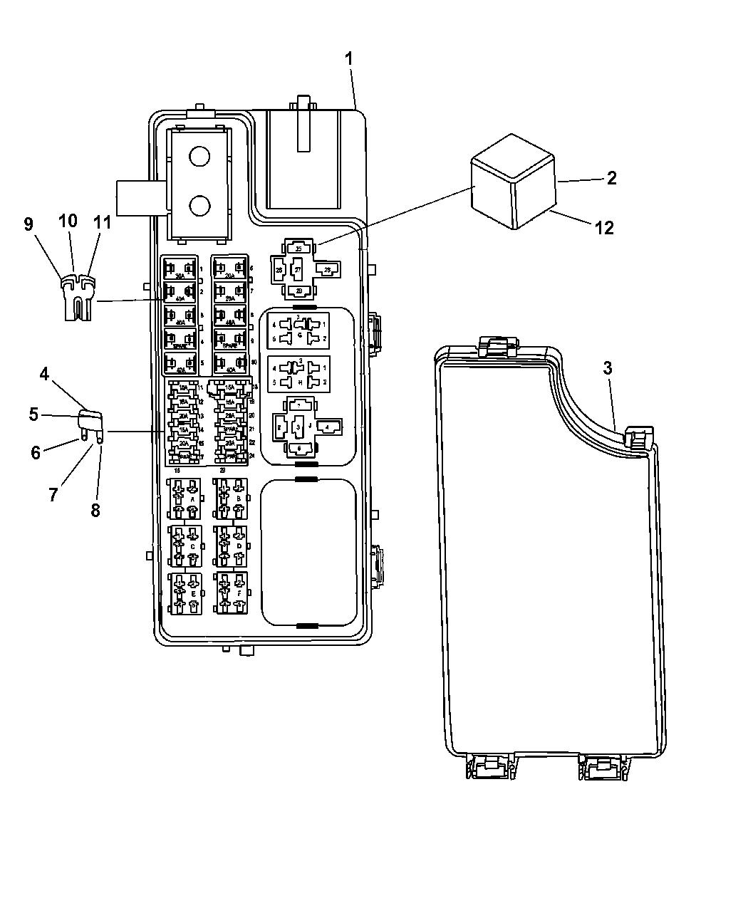 68028007AD - Genuine Mopar BLOCK-TOTALLY INTEGRATED POWER