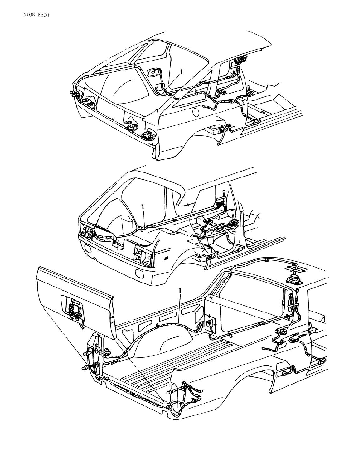 1984 dodge omni wiring - body  u0026 accessories