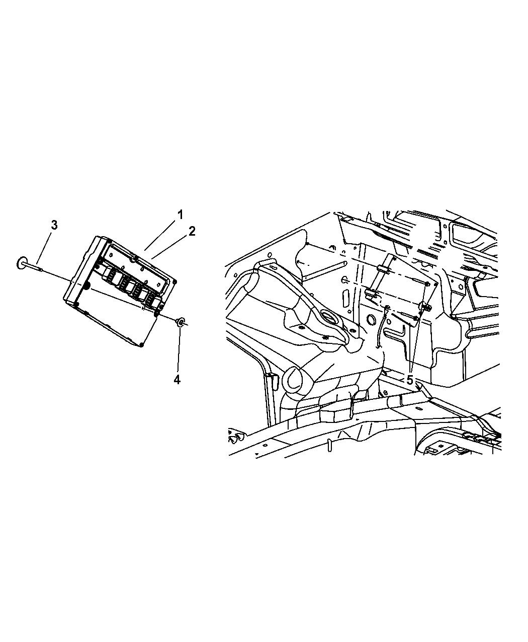 56044515AE Genuine Jeep MODULE POWERTRAIN CONTROL