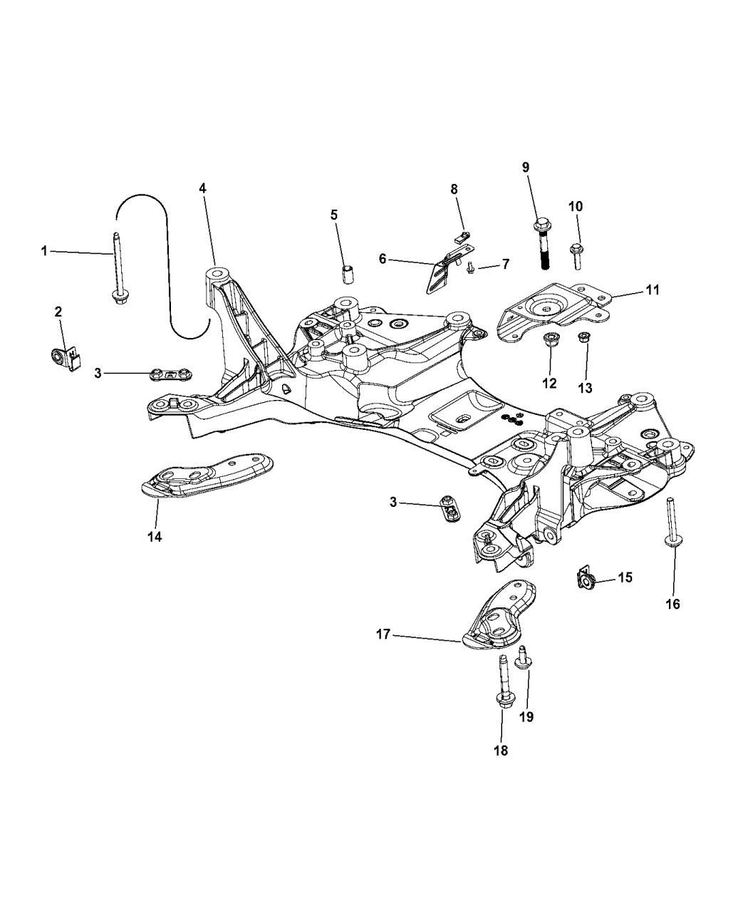 2014 jeep cherokee cradle - front suspension