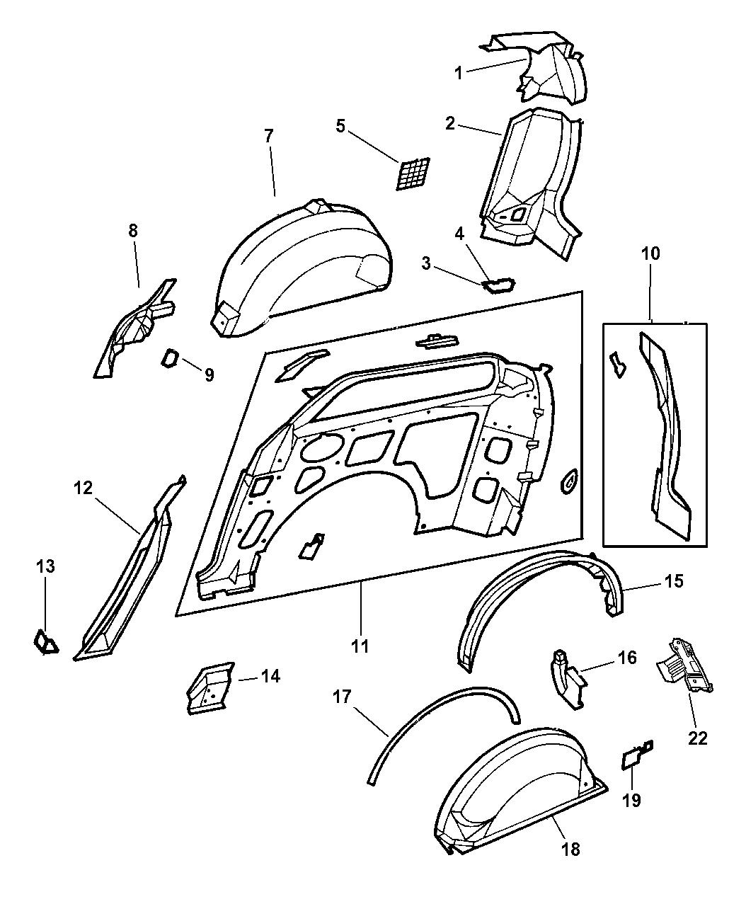 How To Remove Sliding Door Panel On Dodge Caravan: 1997 Dodge Caravan Quarter Panel With Sliding Door Inner