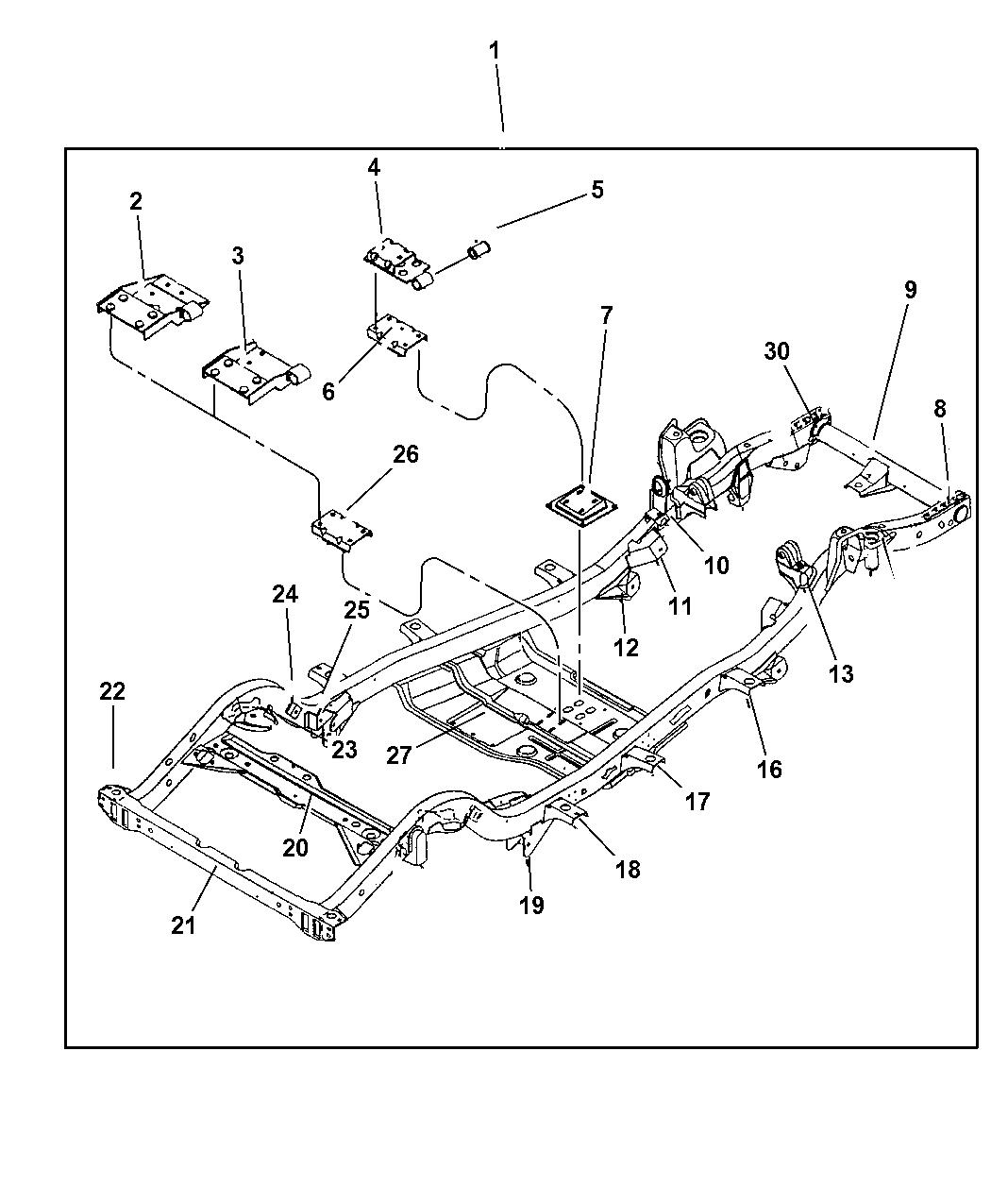 2004 Jeep Wrangler Frame - Mopar Parts Giant