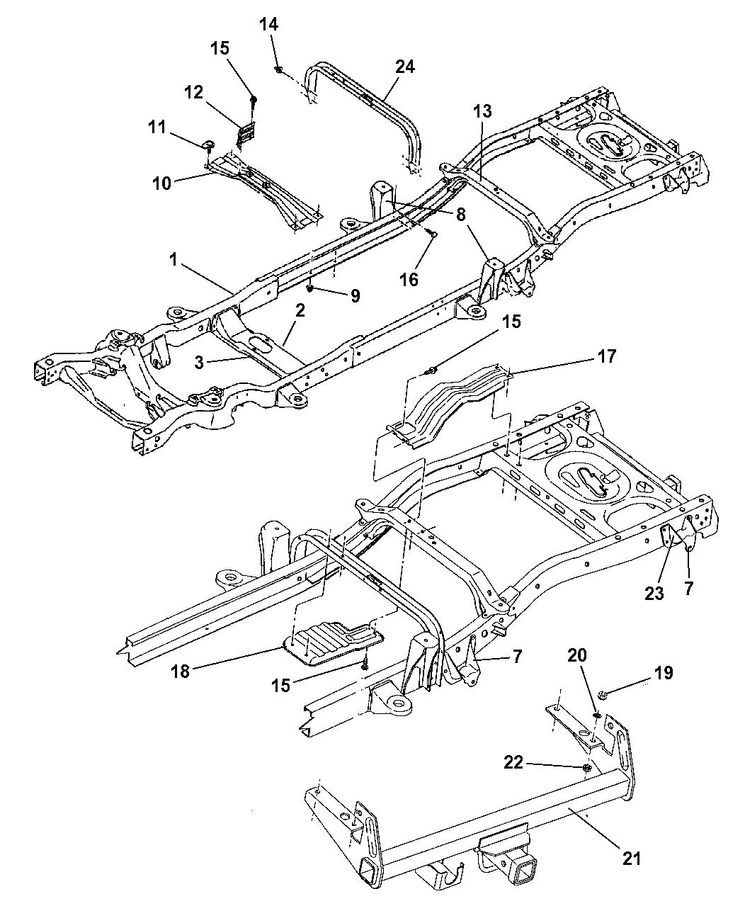 1999 Dodge Dakota Frame - Mopar Parts Giant