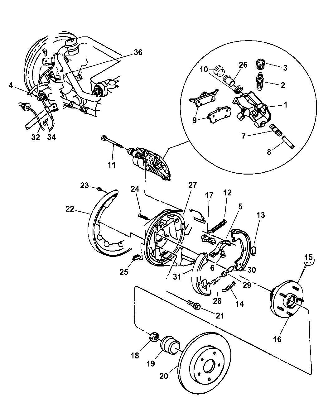 5003550ab Genuine Mopar Hub Brake