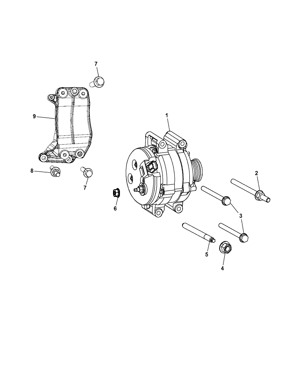 2013 Jeep Grand Cherokee Generator Alternator Related Parts