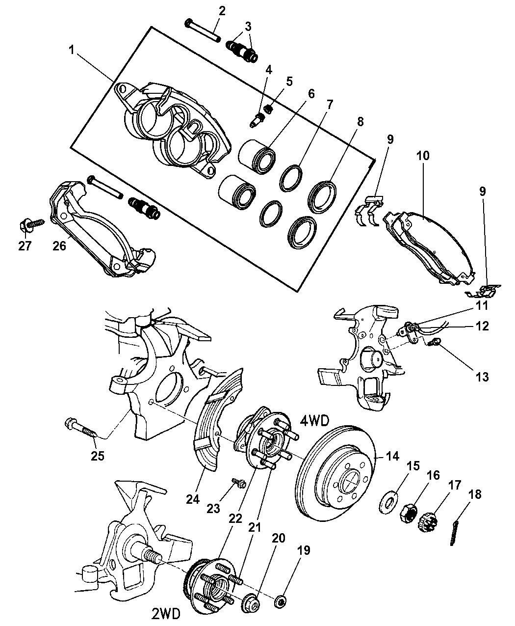 52068964AE  Genuine Dodge HUBBRAKE