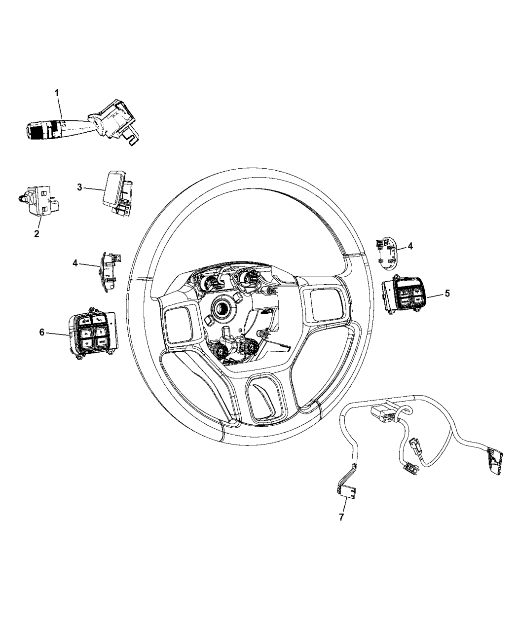 68111384AB - Genuine Mopar SWITCH-SPEED CONTROL