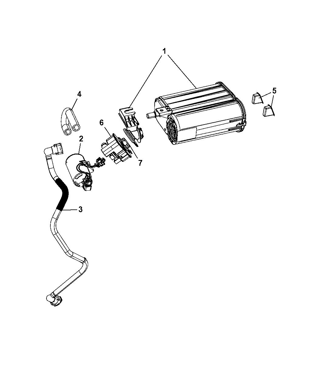2008 Chrysler 300 Vapor Canister & Leak Detection Pump