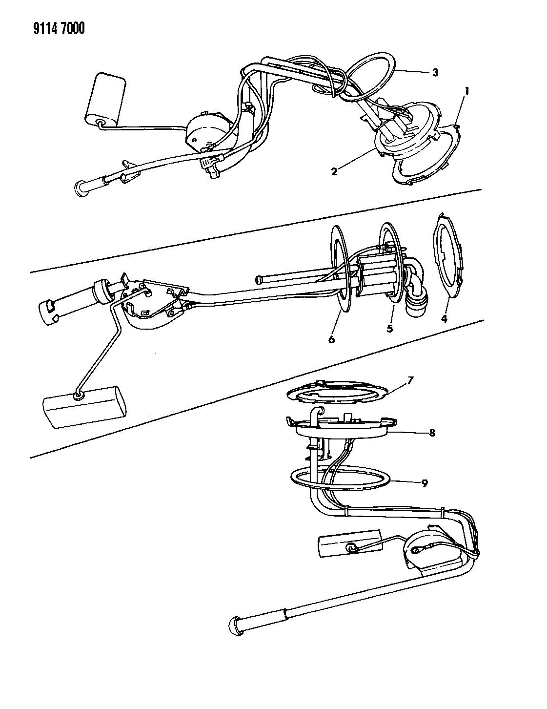 1989 Chrysler LeBaron GTC Fuel Tank Sending Unit