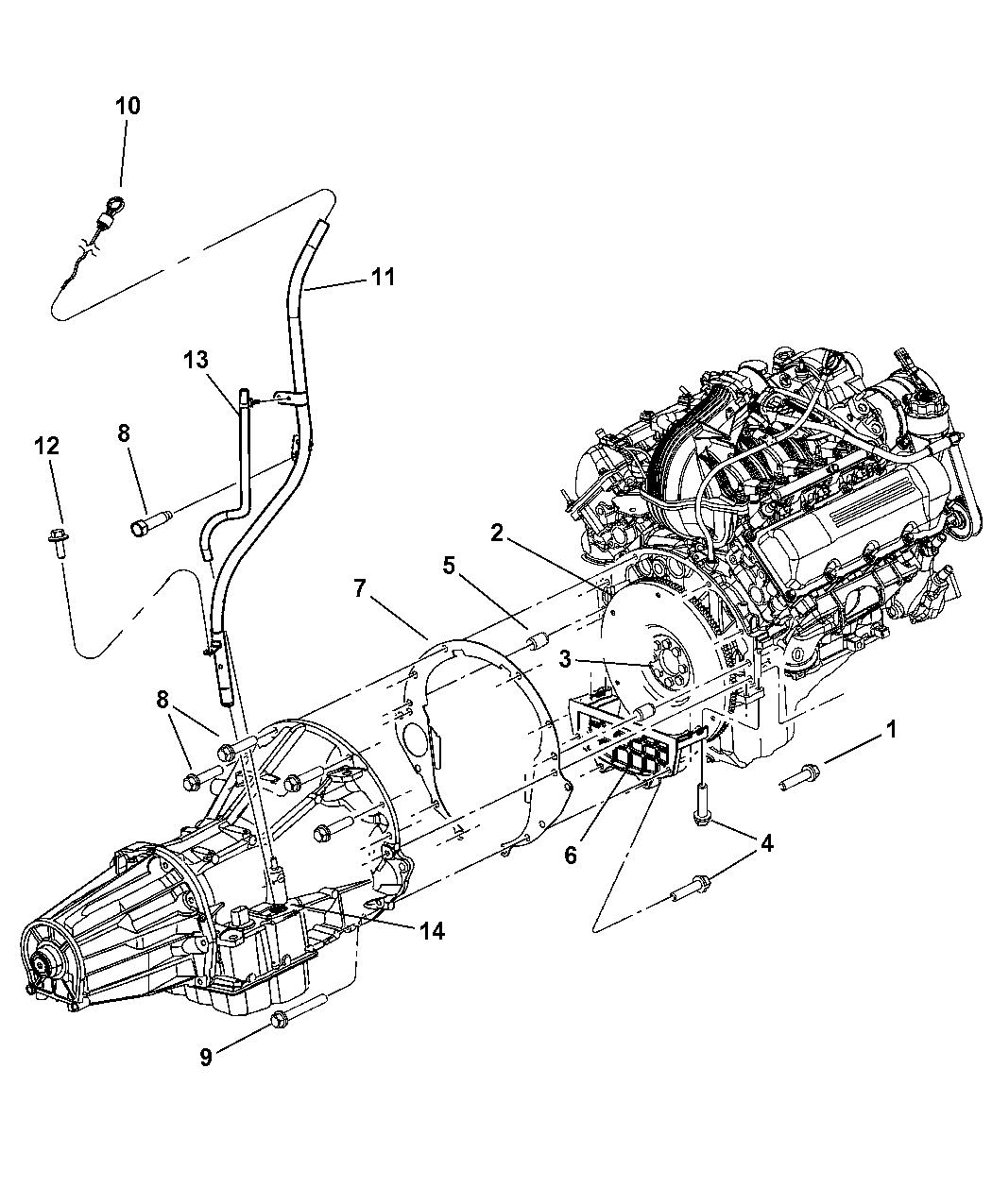 53013592AB - Genuine Mopar INDICATOR-TRANSMISSION FLUID LEVEL