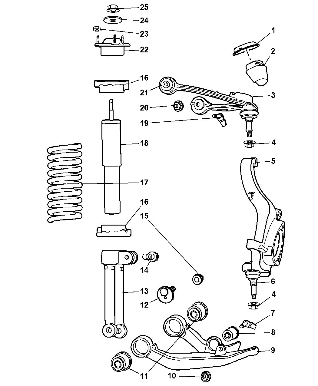52088748AD  Genuine    Jeep    ARMFRONT