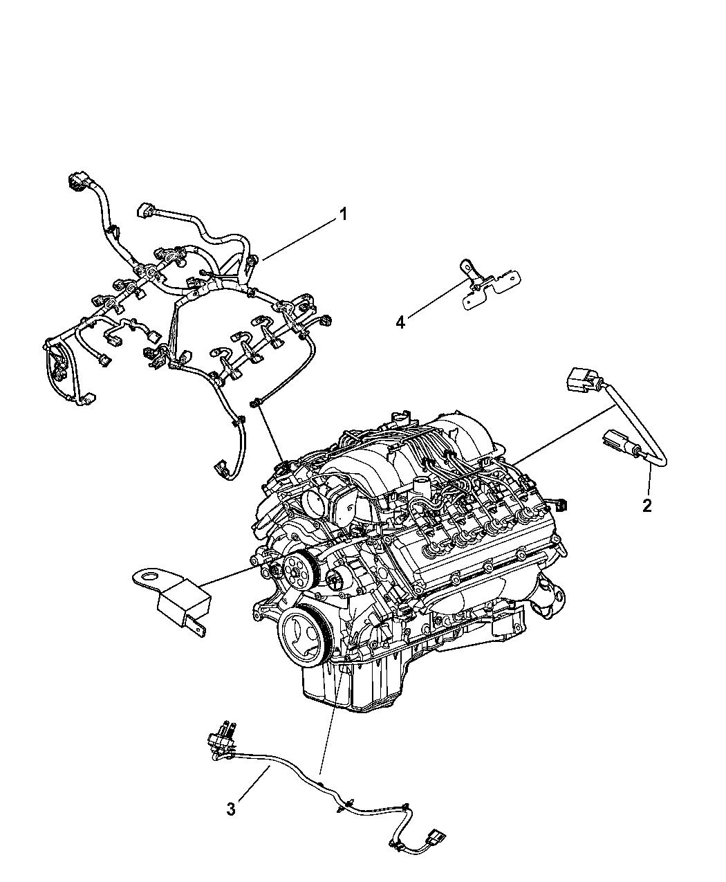68060779AB - Genuine Mopar WIRING-ENGINE