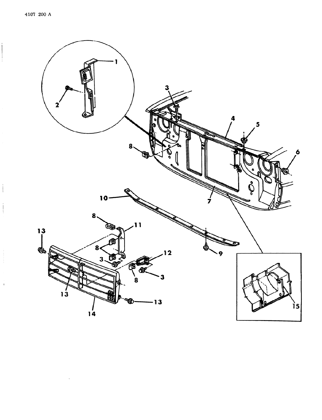 1984 Dodge 600 Convertible & Coupe Grille & Related Parts