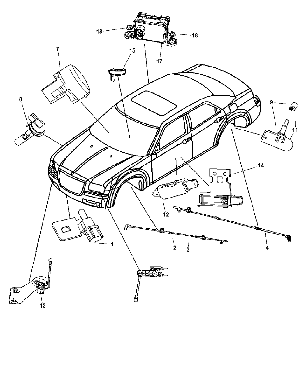 2007 Dodge Charger Sensors Body Mopar Parts Giant Tail Light Wiring Diagram