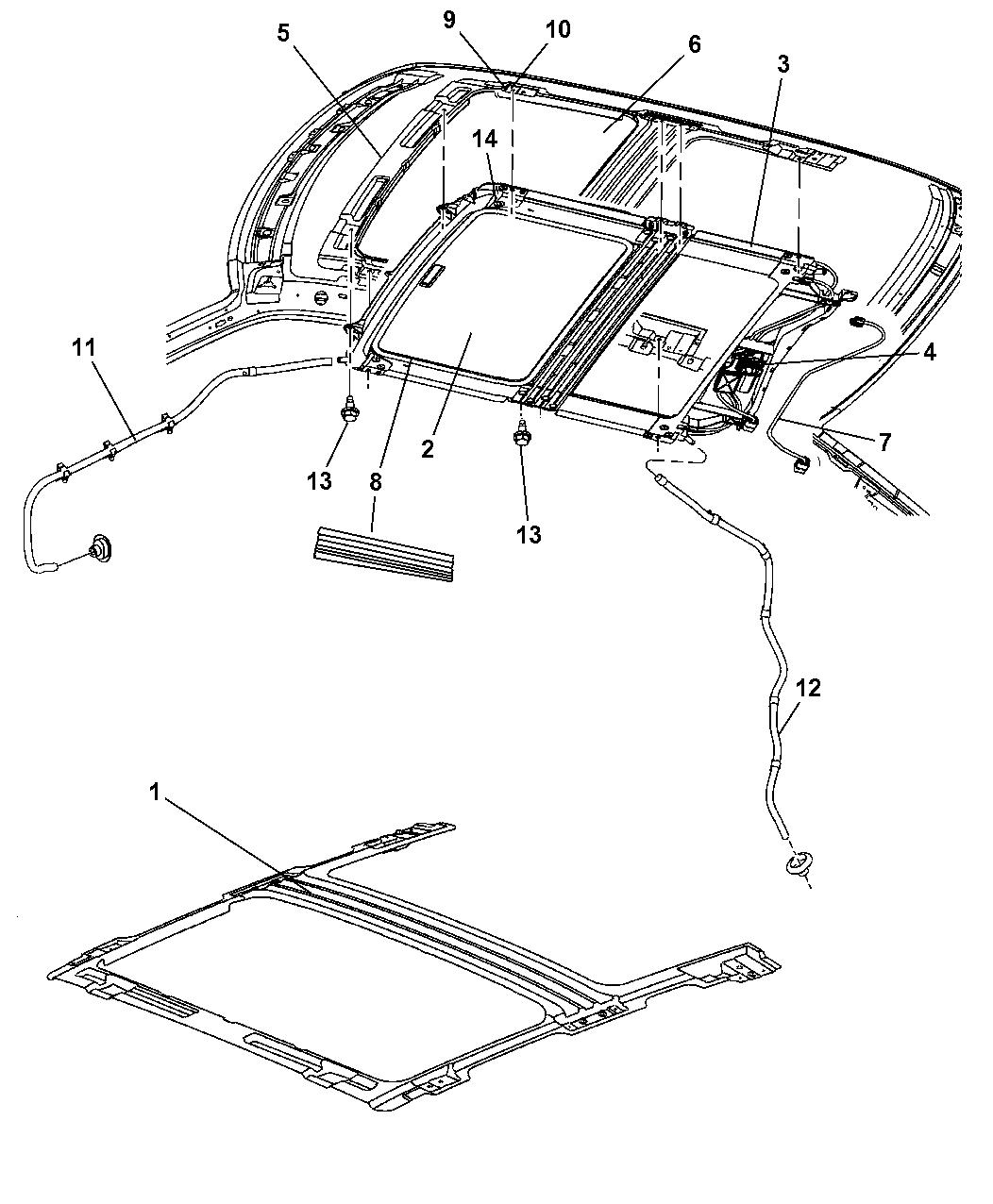2006 Jeep Grand Cherokee Sunroof - Mopar Parts Giant Jeep Grand Cherokee Parts Diagram Schematic on