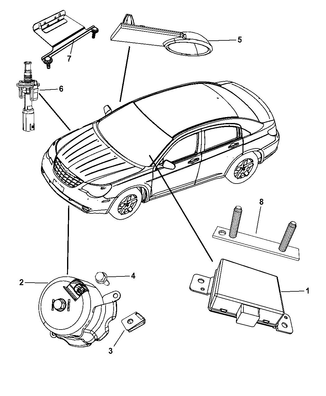 4692053AC - Genuine Chrysler MODULE-SECURITY ALARM