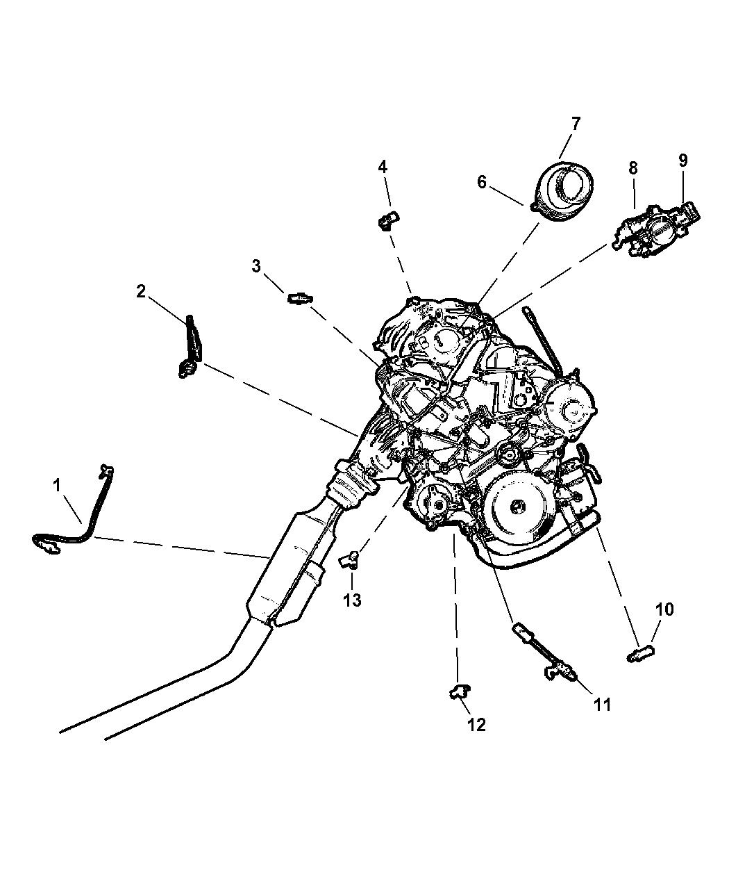 Chrysler 3 8l Engine Diagram Water Line also Toyota 3 0 V6 Engine Wiring Diagram additionally Pt Cruiser Camshaft Sensor Location additionally Transmission Torque Converter Clutch Solenoid likewise 3 8l V6 Jeep Engine. on 2002 chrysler voyager oil pressure sensor
