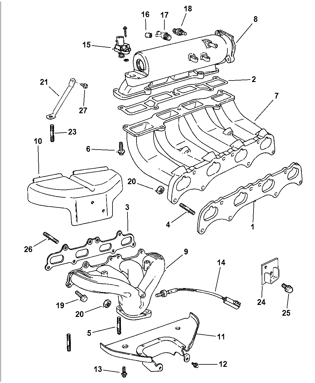 1997 Dodge Avenger Manifolds - Intake & Exhaust - Thumbnail 2