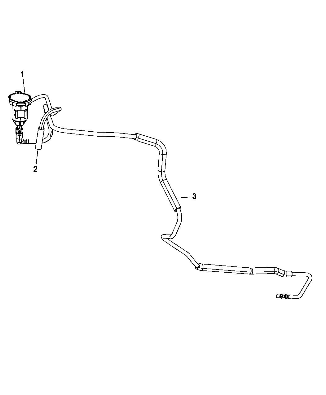 2009 Jeep Wrangler Emission Control Vacuum Harness