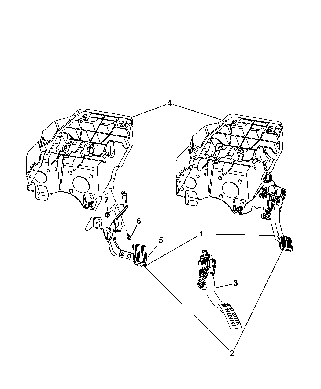 2007 dodge ram 1500 brake pedal of fuel mopar parts giant