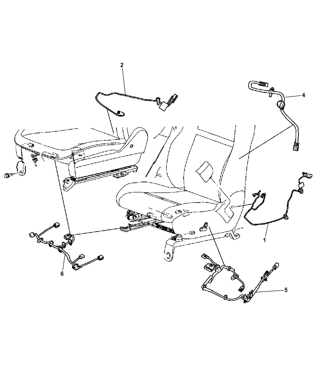 68101140AA - Genuine Mopar WIRING-SIDE AIR BAG