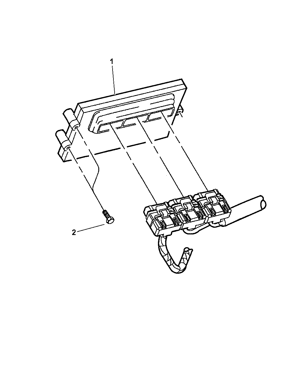2003 Dodge Ram Van Single Board Engine Controller