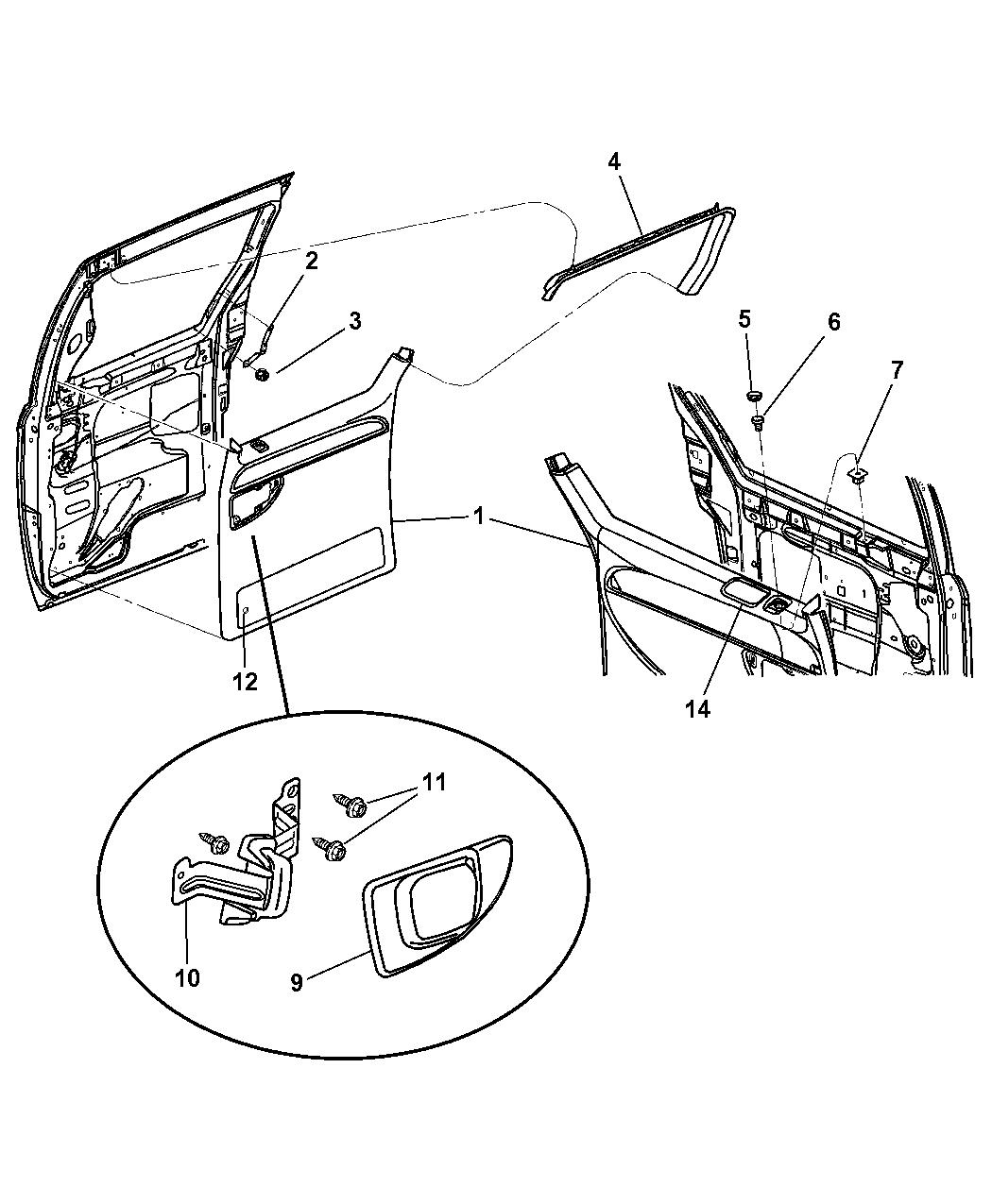 How To Remove Sliding Door Panel On Dodge Caravan: 2003 Dodge Caravan Door Panel