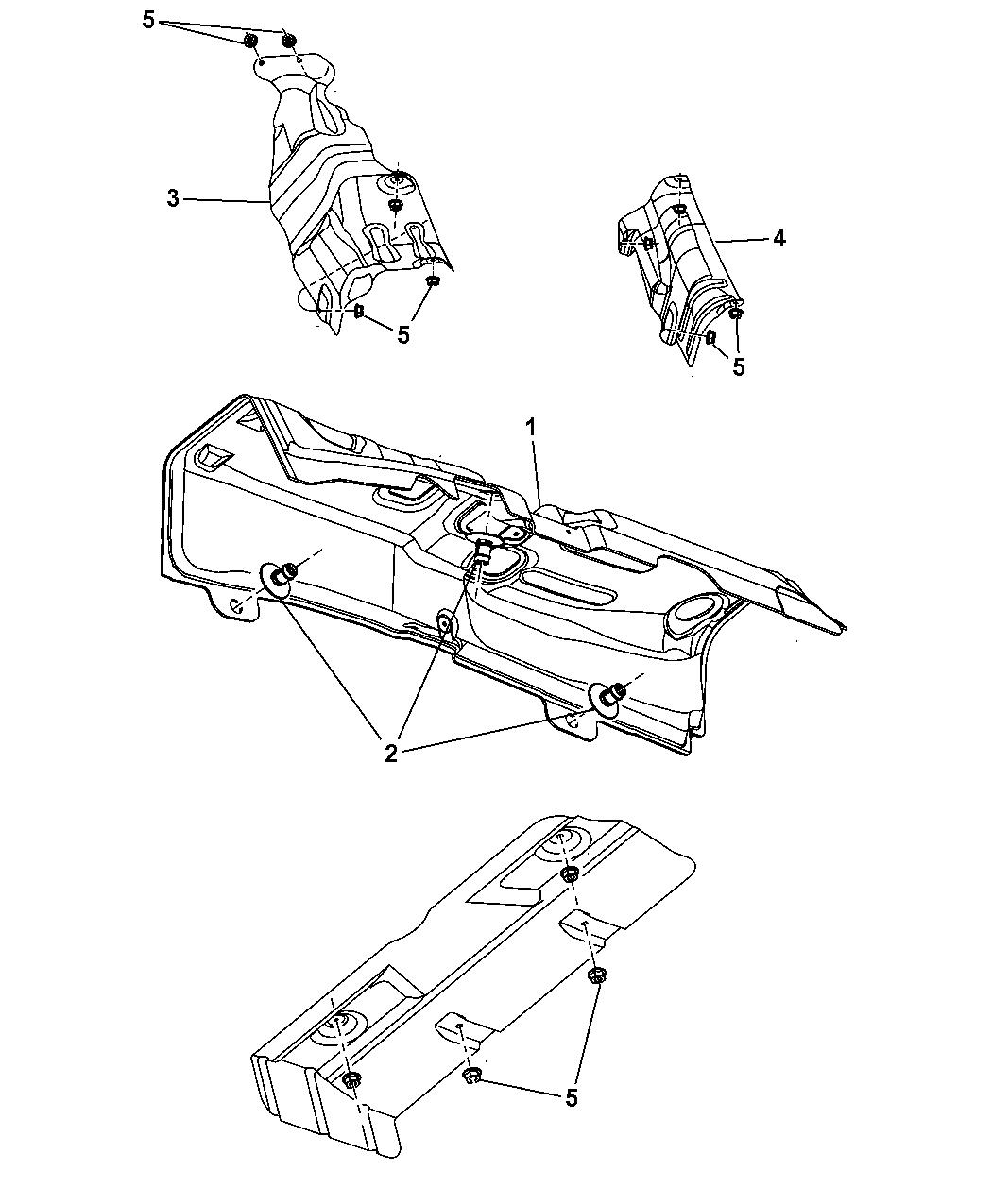 2010 dodge caliber exhaust system heat shield