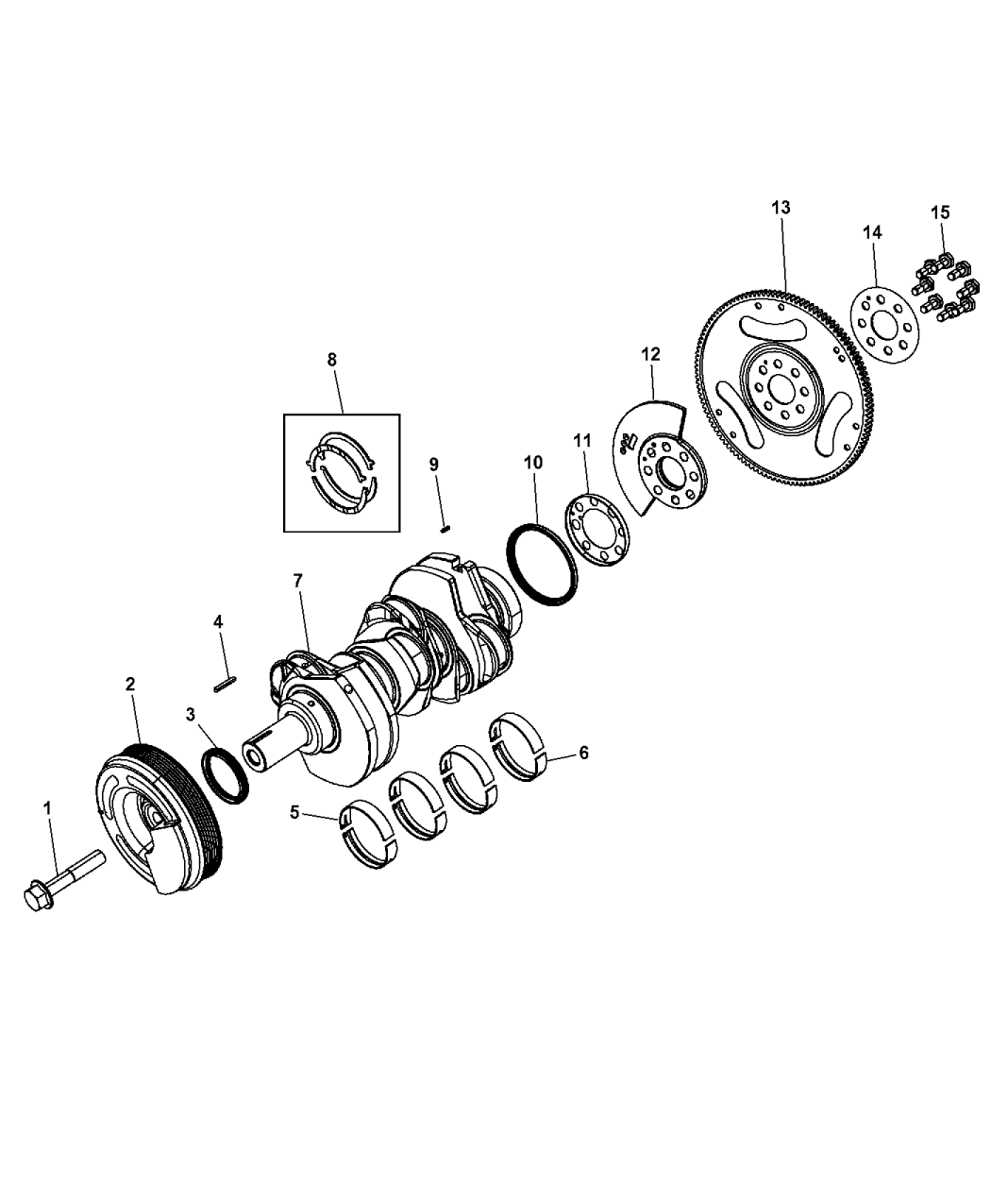 Genuine Mopar Vibration Damper 68147497AA