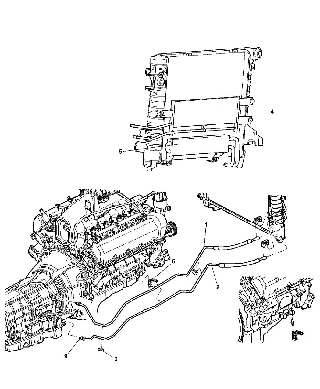 2006 Dodge Durango Transmission Oil Cooler & Lines - Thumbnail 1