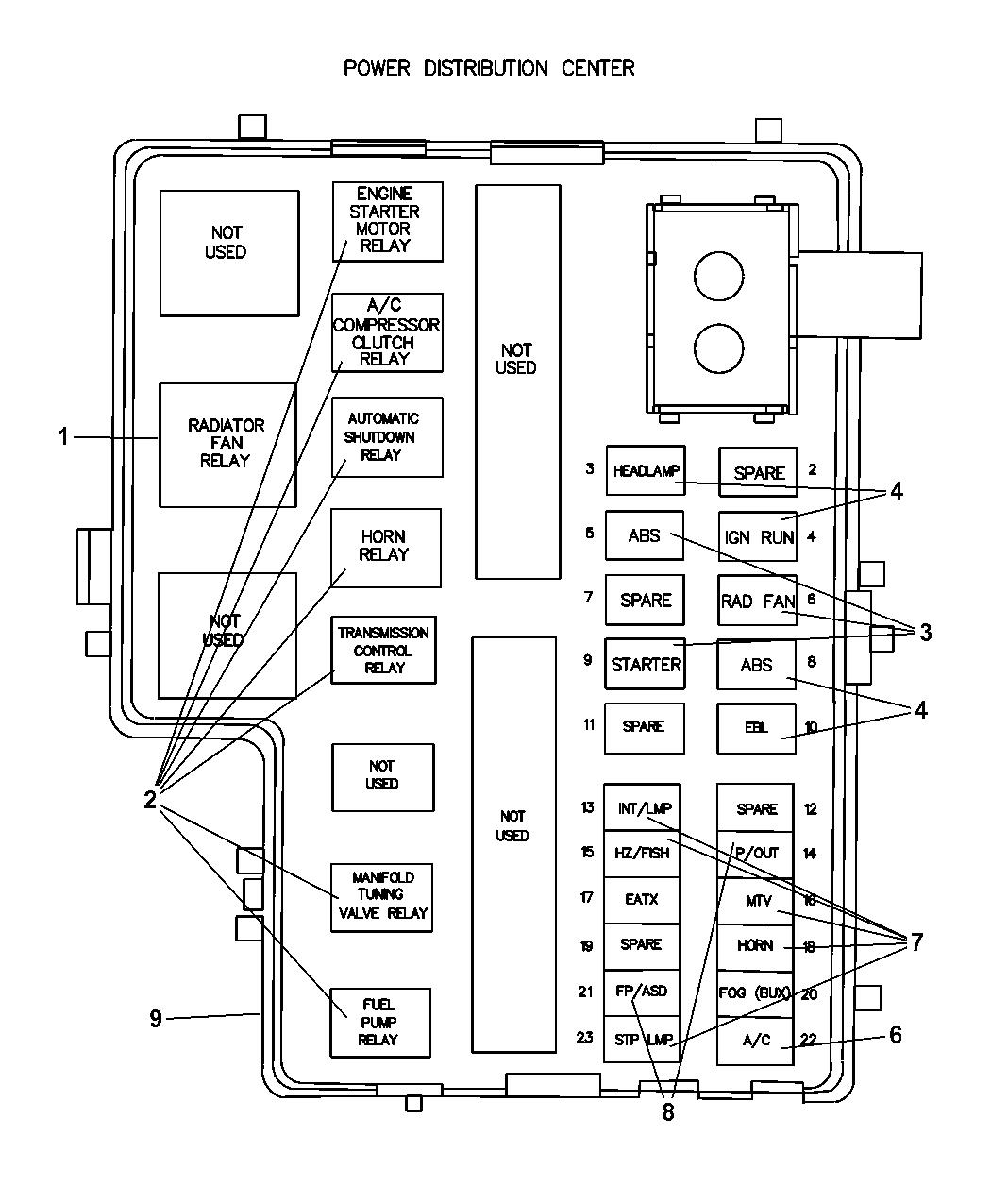 4794076AB - Genuine Dodge COVER-POWER DISTRIBUTION CENTERMopar Parts Giant