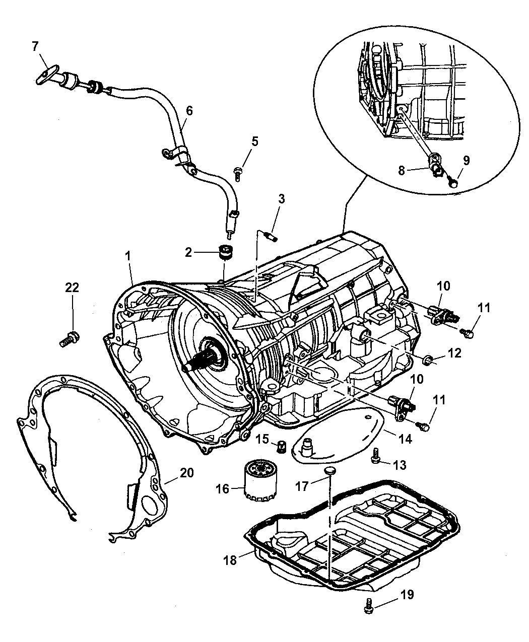 Genuine Mopar TUBE-TRANSMISSION OIL FILLER