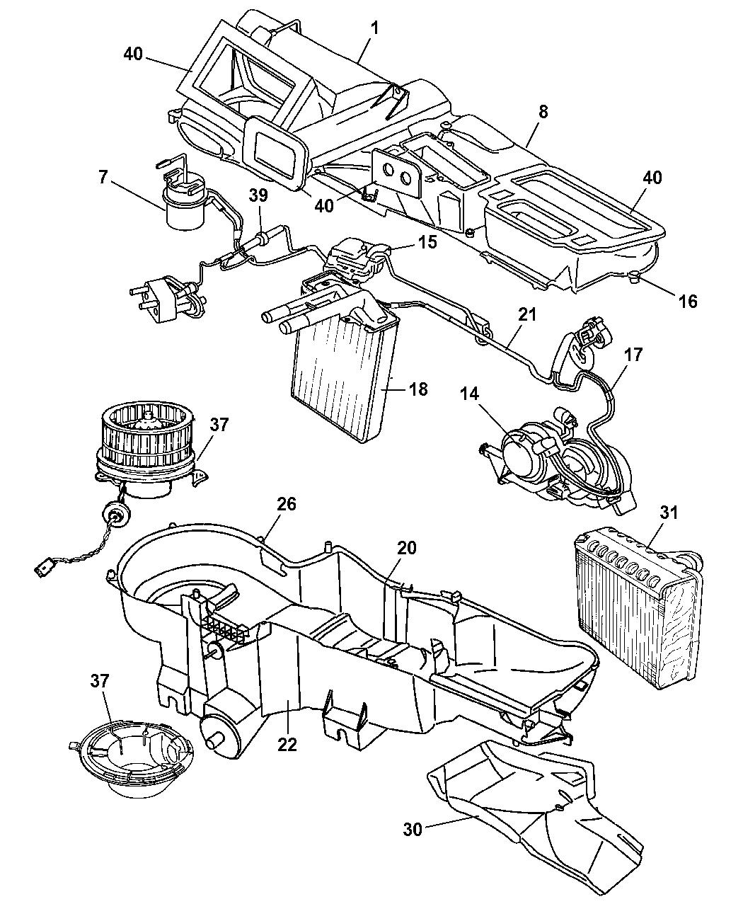 5066552aa genuine mopar resistor a c heater jeep liberty door diagram jeep liberty heater diagram #4