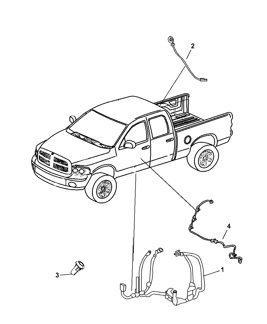 68061600ac Genuine Mopar Wiring Body