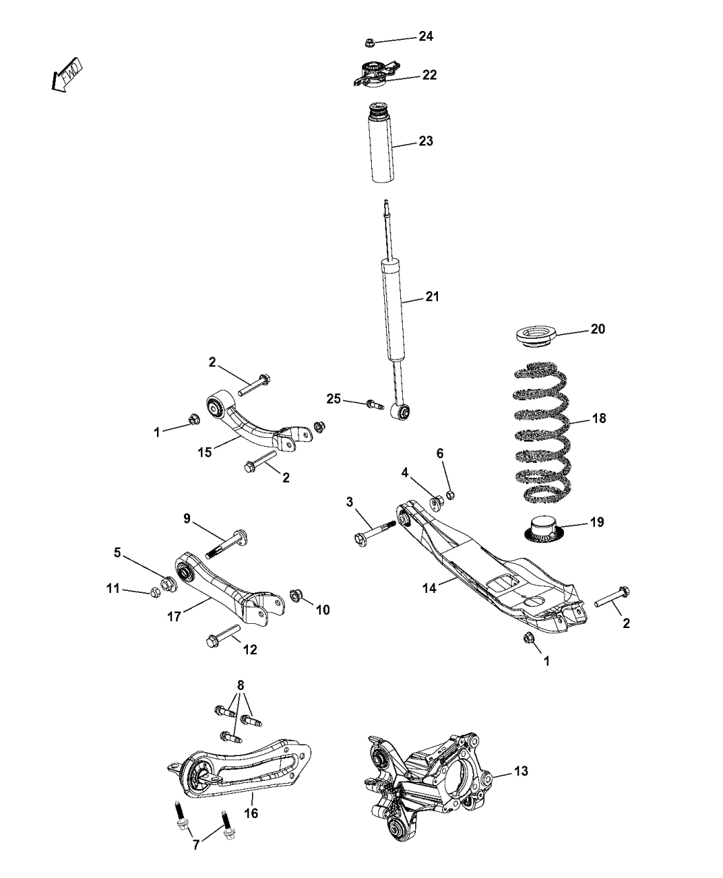 68224868ac Genuine Jeep Absorber Suspension Diagram 2014 Cherokee Rear